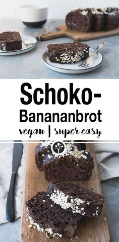 Schoko-Bananenbrot Vegan Cake vegan cake whole foods bakery Banana Bread Recipes, Vegan Breakfast Recipes, Easy Cake Recipes, Vegan Snacks, Whole Food Recipes, Cookie Recipes, Snack Recipes, Dessert Recipes, Vegan Foods
