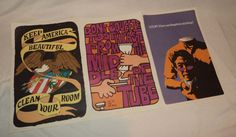 Lot Of 3 Vintage 1968 RICKIE TICKIE INC Color Posters by Alleycatv
