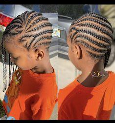 Little Girls Natural Hairstyles, Little Girl Braid Hairstyles, Black Kids Hairstyles, Little Girl Braids, Baby Girl Hairstyles, Kids Cornrow Hairstyles, Toddler Braided Hairstyles, Feed In Braids Hairstyles, Hairdos