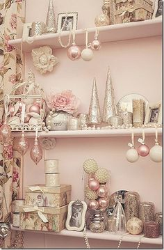 A pretty pink Christmas