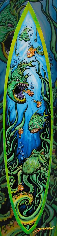 Drews amazing art on surfboards