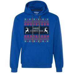 Mery christmas,the reindeer, ugly Pullover Fleece Sweatshirt