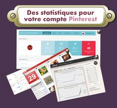 ►Quelques outils statistiques utiles pour votre compte #Pinterest : mesure de l'activité de votre compte (pins, repins, commentaires, abonnés, les likes ect) à lire la suite de l'article http://tomatejoyeuse.blogspot.com/2012/03/des-statistiques-pour-votre-compte.html  Via @Tomate Joyeuse