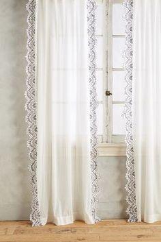 Eyelet-Trimmed Curtain   Anthropologie