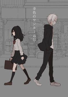sachi iro no one room Anime Girl Cute, Cute Anime Couples, Anime Art Girl, Anime Girls, Sad Anime, Kawaii Anime, Manga Anime, Manga Couple, Manga Love