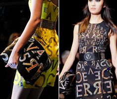 This is some pins were it shows typography within fashion