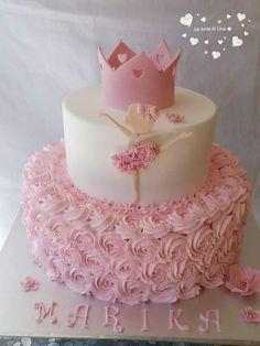 14th Birthday Cakes, Baby Girl Birthday Cake, Ballerina Birthday Parties, Ballerina Party, Pink Birthday, Ballet Cakes, Ballerina Cakes, Tiara Cake, Girl Cakes