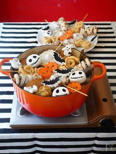 常備菜にもパーティーにも!忙しい人にも「おでん」をオススメしたいワケ | レシピサイト「Nadia | ナディア」プロの料理を無料で検索 Kawaii Halloween, Halloween Goodies, Halloween Food For Party, Halloween Treats, Popup Recipe, Halloween Table Decorations, Diy Pumpkin, Cute Food, Clay Crafts