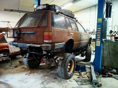 My madmax build mazda 323 with nissan kingcab chassis and compoundturbo diesel Mazda, Nissan, Diesel, Monster Trucks, Cars, Vehicles, Diesel Fuel, Autos, Car