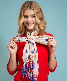 Styling tip- tie scarf into bow