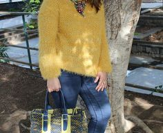 Yellow, blu and a fluffy jumper
