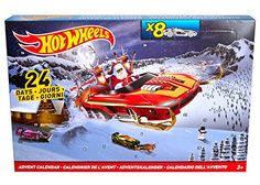 Hot Wheels Advent Calendar: It's Hot Wheels for the Holidays! Individual advent windows reveal one surprise a day leading up to Christmas. Twenty-four surprises: Eight Hot Wheels Vehicles and 16 Accessories! Days To Christmas, Christmas Toys, Christmas Countdown, Christmas Stuff, Christmas Presents, Hot Wheels Advent Calendar, Advent Calendar 2016, Advent Calendars, Happy Hot