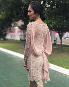 Boho Prom Dress, 1538972675 The Bride Dept Attractive Dress Kebaya Hijab, Kebaya Lace, Kebaya Dress, Dress Pesta, Kebaya Muslim, Muslim Dress, Vera Kebaya, Kebaya Brokat, Dress Brukat
