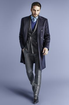 Blue tones for truly handmade in  Italy pieces: Larusmiani FW15/16 Men's Collection