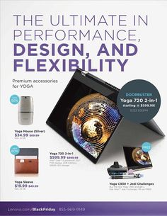 Lenovo Black Friday 2018 Ads and Deals Browse the Lenovo Black Friday 2018 ad scan and the complete product by product sales listing. Black Friday News, Yoga Accessories, Outdoor Activities, Consumer Electronics, Coupons, Ads, Gifts, Coupon, Field Day Activities