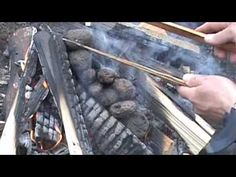 ▶ Bushcraft Indian Stone Boiling in a Basket - YouTube