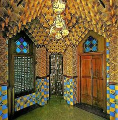"""Curious Places: Casa Vicens (Barcelona/ Spain) Casa Vicens is a family residence in Barcelona, designed by Antoni Gaudí and built for industrialist Manuel Vicens. It was Gaudí's first important work. It was added to the UNESCO World Heritage Site """"Works of Antoni Gaudí"""" in 2005."""