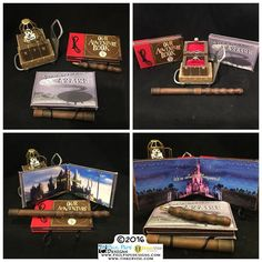 #harrypotter #hedwig #ouradventurebook #disney #pixar #up #myadventurebook #magicwand #luggagecart #custom #engagement #ringbox #proposal by #paulpapedesigns #tinkervisestudios