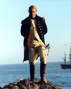 Russell Crowe as Captain Jack Aubrey in Master and Commander - The Far Side of the World.he could have spliced my main-brace. Captain Scott, Captain Jack, Movie Stars, Movie Tv, Patrick O'brian, Master And Commander, Russell Crowe, Romance, The Far Side