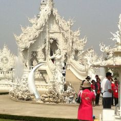 the White Temple near Siem Reap, Thailand