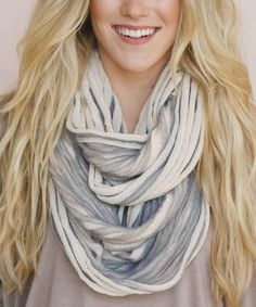 Loving this Ivory Ribbed Infinity Scarf on #zulily! #zulilyfinds