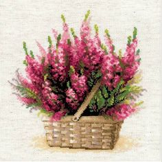 Scottish Heather Flower Cross Stitch Kit £24.25   Past Impressions   Riolis