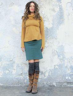 Gaia Conceptions - Pencil Short Fleece Skirt, $95.00 (http://www.gaiaconceptions.com/pencil-short-fleece-skirt/)