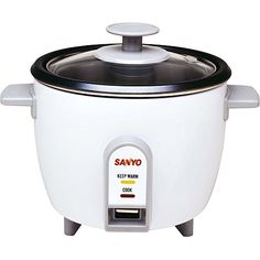 Sanyo Rice Cooker, Vegetable Steamer, 3 Cup, White $27.00
