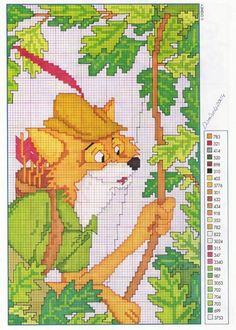 Point de croix *♥*Cross stitch Robin Hood 1 of 2
