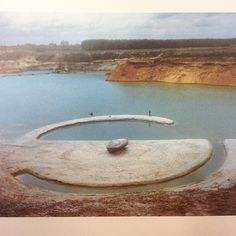 "Robert Smithson ""Broken Circle"" 1971 #robertsmithson"""