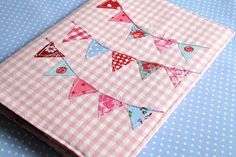 A5 Notebook Cover Journal cover bunting applique by HeartofHolland