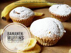 glutenfreie Bananen-Muffins, sehr saftig und ideal fürs Backen mit Kindern    https://zauberhaftekruemel.blogspot.co.at/2018/01/rezepte-glutenfreie-bananenmuffins.html