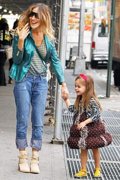 SJP--OMG now that's how you dress a little girl-she's following in her mama's footsteps!