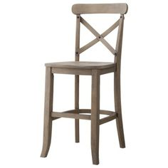 Tam Rustic Wood Natural 24 Inch Counter Stool By Kosas