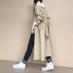 Korean Winter Outfits, Long Coat Outfit, Spring Fashion, Winter Fashion, Ladylike Style, T Dress, Winter Looks, Korean Fashion, Street Style