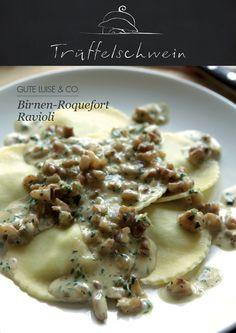 Birnen-Roquefort-Ravioli