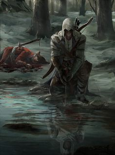 is that Altair in the water.. kind of ironic
