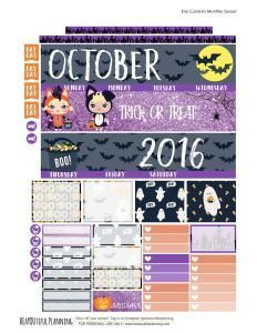 Free October Planner Sticker Printable