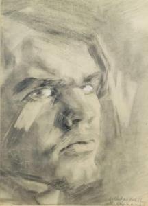 Raoul Hausmann - Autoportrait, 1906