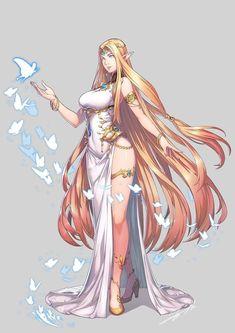 ArtStation - Goddess of Creation, Jung haejin Fantasy Girl, Fantasy Art Women, Beautiful Fantasy Art, Anime Fantasy, Art Anime Fille, Anime Art Girl, Female Character Design, Character Art, Fantasy Kunst
