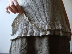 Long & not too ruffly ruffles - pretty way to finish a sweater!.