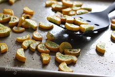 Place the squash on a baking sheet in a single layer and bake in the lower part of the oven 10 to 12 minutes, or until the bottom is golden....