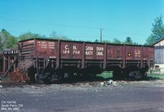 Car No: 124792, Drop Bottom Gondola  Built Date: 1915  Location: South Parry, ON  Date: May 5th 1980 Ho Model Trains, Railroad Photography, Rolling Stock, Train Car, Abandoned Places, Location, Missouri, Planes, Real Life
