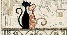 Romantic Cats - Bug Art greeting card   Silvia   Pinterest   Cabo, Chang'e 3 and Ink