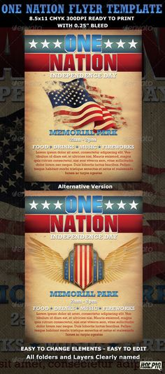 Memorial\/Independence Day Flyer Template Flyer template - independence day flyer