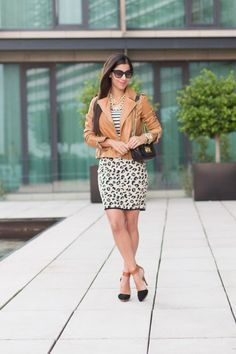Stripes_and_Leopard-velvet_leopard_skirt-23  Massimo Dutti Leather Jacket (similar here) // Edith A. Miller Striped Sweater // Velvet Belen Leopard Pencil Skirt // Free People x Steve Madden Solitaire Shoes // Michael Kors Quilted Bag // Prada Sunglasses // HRH Collection Necklace // Michael Kors Watch // J. Crew Pavé Bracelet // BipandBop Bracelet