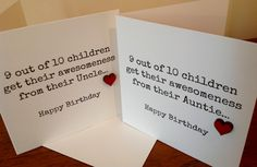 Awesome Uncle / Auntie Birthday Card www.facebook.com/Funkyjunk.Upcycled.UK