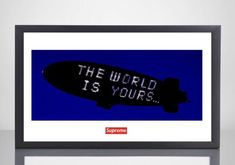 Supreme X Scarface Movie Poster Print The World Is Yours Box Logo Urban Wall Art Home Decor