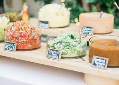 The ultimate fare for an unstuffy wedding? Crowd pleasin', lip smackin', beautifully presented tacos. And if what's popular on Pinterest is any indication of what we'll be seeing at summer weddings (it is, btw), we'll put it this way: Today's bride is down-to-earth and, like us, all about the guac. Taco 'bout a party. RELATED: These Gorgeous Brushstroke Cakes Are Everything