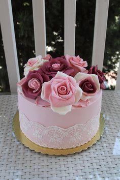 Rose cake, birthday cake, engagement cake, wedding cake